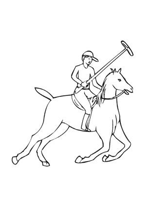 Ausmalbilder Galoppierendes Polo Pferd Mit Reiter Pferde Malvorlagen
