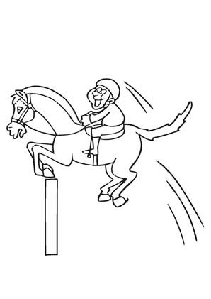Ausmalbilder Comic Pferd Im Sprung Pferde Malvorlagen