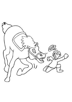 Ausmalbilder Comic Wildes Pferd Pferde Malvorlagen