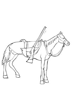 Ausmalbilder Cowboy Pferd Pferde Malvorlagen