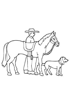 Ausmalbilder Pferd Hund Reiter Pferde Malvorlagen