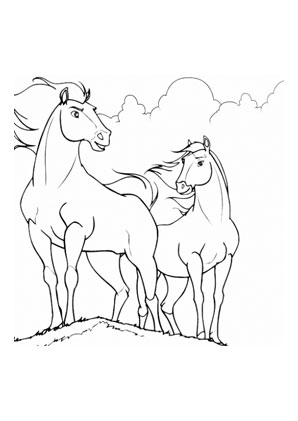 Ausmalbilder Pferde Auf Der Wiese Pferde Malvorlagen