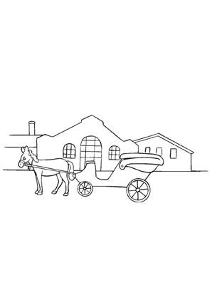 ausmalbilder pferdekutsche - pferde malvorlagen