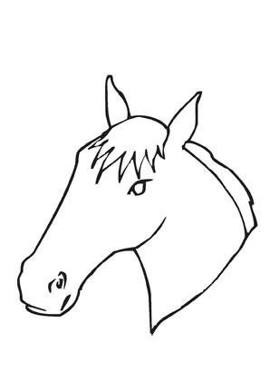 ausmalbilder ponykopf - pferde malvorlagen