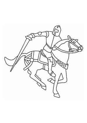 Ausmalbilder Ritter Und Sein Pferd Pferde Malvorlagen