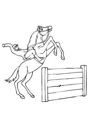 Ausmalbilder Springpferd Vor Hindernis Pferde Malvorlagen